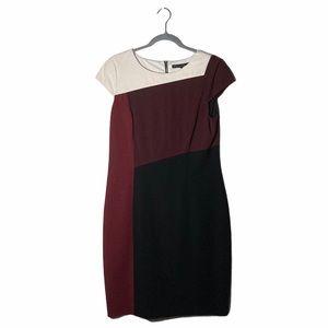 White House Black Market Color Block Dress Sz 12